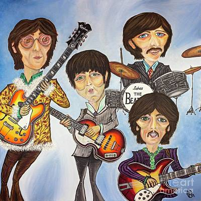 Paul Macartney Painting - The Beatles by Nicolette Maw