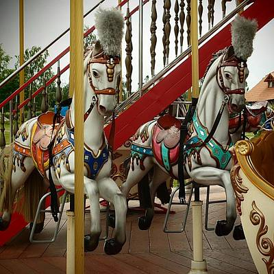 Photograph - The Beauties Of The Carousel by Dora Hathazi Mendes