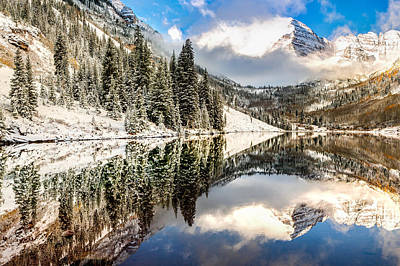 Perfect Christmas Card Photograph - The Beautiful Bells - Aspen Colorado by Gregory Ballos