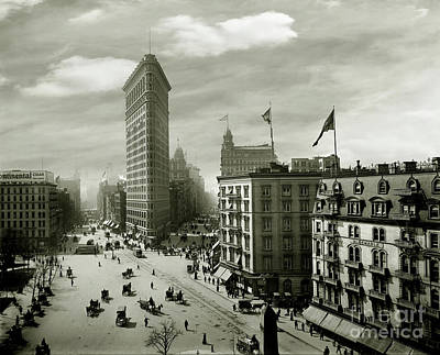 Twin Towers Photograph - The Beautiful Flatiron Building Circa 1902 by Jon Neidert