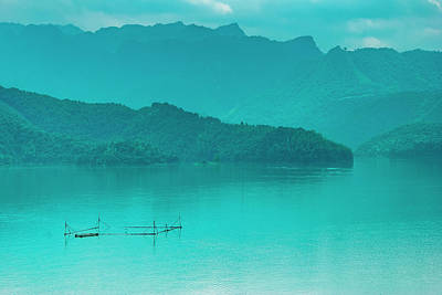 Photograph - The Beautiful Reservoir Scenery In Summer, Guilin, China. by Carl Ning