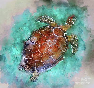 The Beautiful Sea Turtle Art Print by Jon Neidert