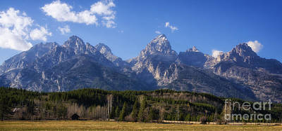The Beautiful Teton Range Art Print