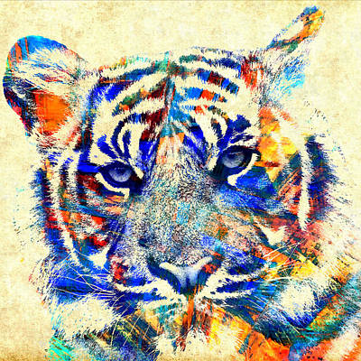 Amazon.com Mixed Media - The Beautiful Tiger - Cream by Stacey Chiew