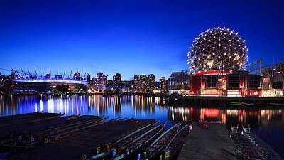 City Photograph - The Beautiful Vancouver Downtown And Science World by Alan W