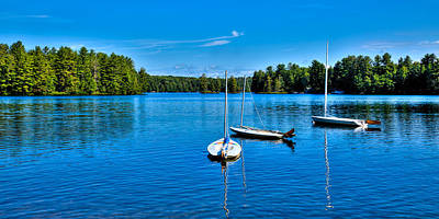 The Beautiful White Lake In New York Art Print