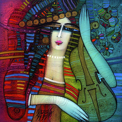 Painting - The Beauty And The Violin by Albena Vatcheva