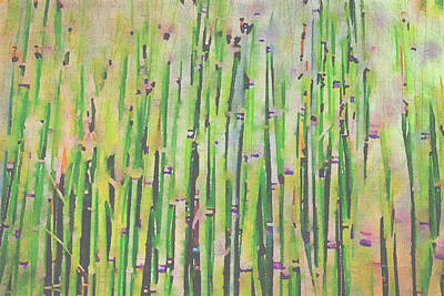 Bamboo Fence Painting - The Beauty Of A Bamboo Fence by Angela A Stanton