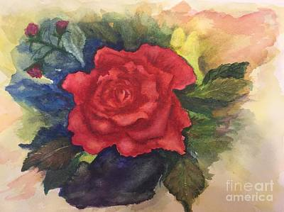 Painting - The Beauty Of A Rose by Lucia Grilletto