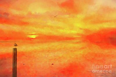 Digital Art - The Beauty Of A Sunset  by Randy Steele