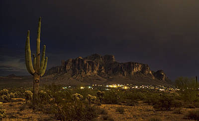 Photograph - The Beauty Of A Superstition Evening  by Saija  Lehtonen
