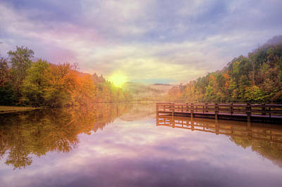 Photograph - The Beauty Of Autumn On The Lake by Debra and Dave Vanderlaan