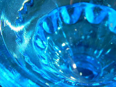 The Beauty Of Blue Glass Art Print
