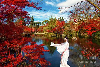The Trees Mixed Media - The Beauty Of Japan by KaFra Art