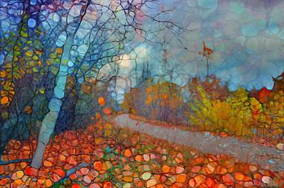 Pathway Digital Art - The Beauty Of Last Fall by Tara Turner