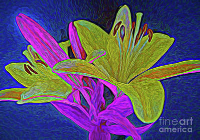 Digital Art - The Beauty Of Lilly 102717-2 by Ray Shrewsberry