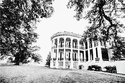 Photograph - The Beauty Of Nottoway Plantation - Bw by Scott Pellegrin