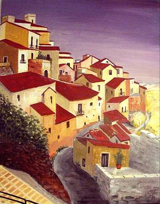 Sicily Painting - the beauty of Sicily by Anthony Meton