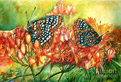 Orange And Black Butterfly Painting - The Beauty Of Spring by Norma Boeckler