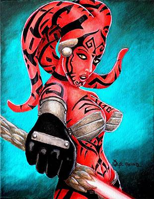 Sith Painting - The Beauty Of The Dark Side by Al  Molina