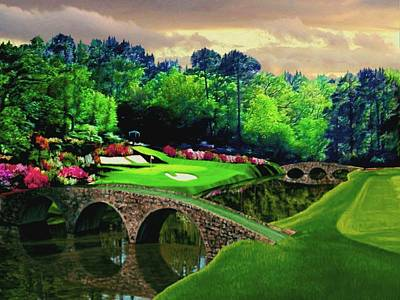 Arnold Palmer Painting - The Beauty Of The Masters by Ron Chambers