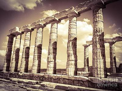 Sounion Photograph - The Beauty Of The Temple Of Poseidon by Denise Railey