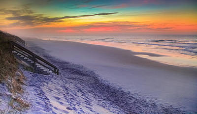 The Beauty Of Topsail Island Art Print by Karen Wiles
