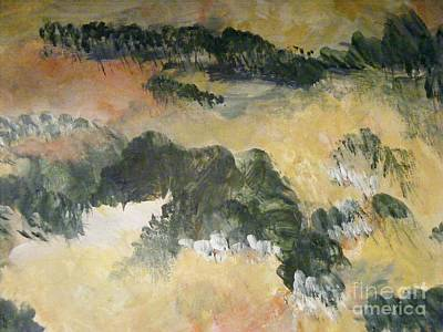 Painting - The Beauty Of Trees And Mountains by Nancy Kane Chapman