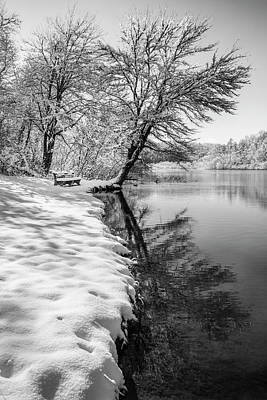 Photograph - The Beauty Of Winter In Black And White by Debra and Dave Vanderlaan