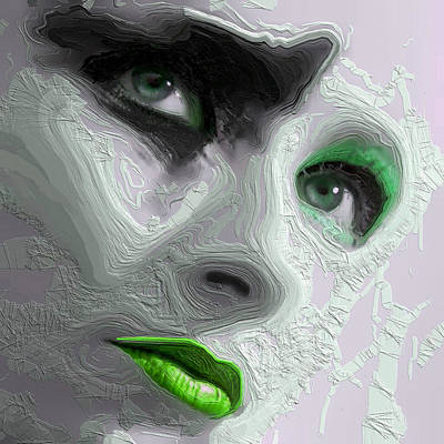Mixed Media - The Beauty Regime Green by ISAW Gallery