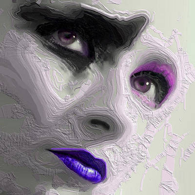 Mixed Media - The Beauty Regime Purple by ISAW Gallery