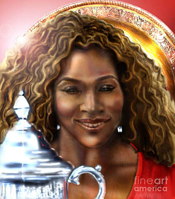 Painting - The Beauty Victory That Is Serena by Reggie Duffie