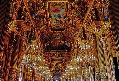 Stellar Interstellar - The Beauty Within The Palais Garnier In Paris, France by Rick Rosenshein