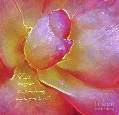 Photograph - The Beauty Within Your Heart by Hazel Holland