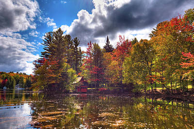 Autumn Photograph - The Beaver Brook Boathouse by David Patterson