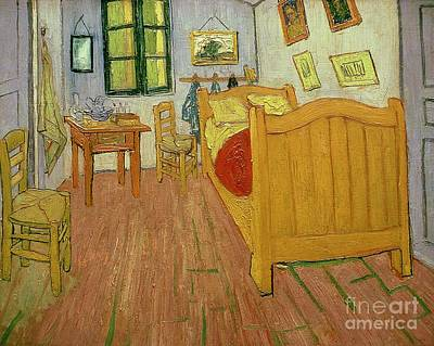 Table Painting - The Bedroom by Vincent van Gogh