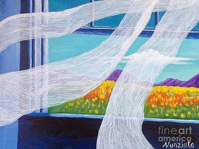 The Bedroom Window Art Print by Nancy McNamer