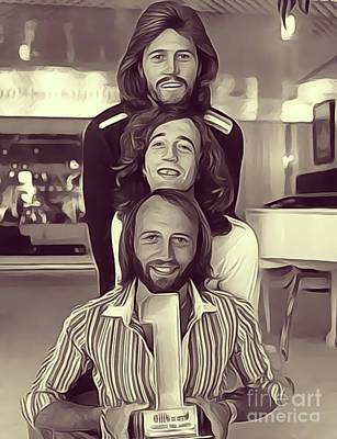 Musicians Royalty-Free and Rights-Managed Images - The Bee Gees by John Springfield