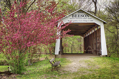 Photograph - The Beeson Covered Bridge by Harold Rau