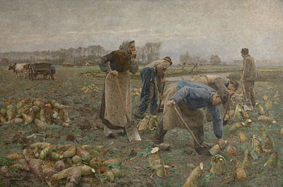 Painting - The Beet Harvest by Emile Claus