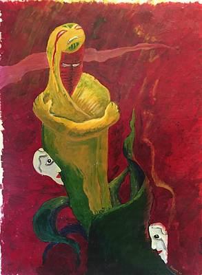 The Beggar Art Print by Alejandro Lopez-Tasso