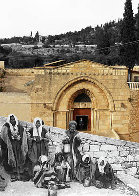 Photograph - The Beggars by Munir Alawi