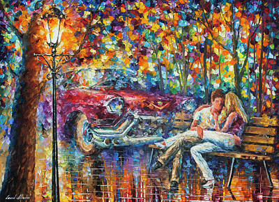 Painting -   The Begining 1959 by Leonid Afremov