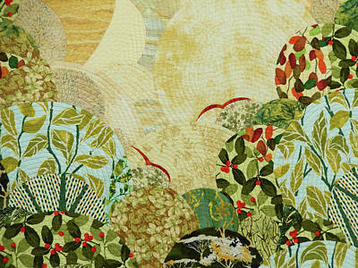 Tapestry - Textile - The Beginning Of The Journey by Linda Beach