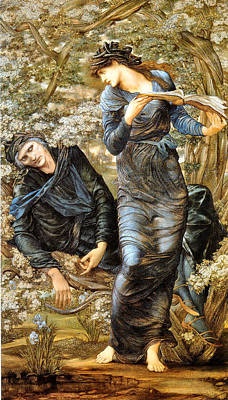 Painting - The Beguiling Of Merlin 1874 by Edward Burne Jones 1833 - 1898 - Joy of Life Art Gallery