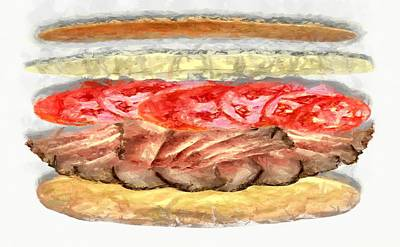 Digital Art - The Beirut Sandwich by Caito Junqueira