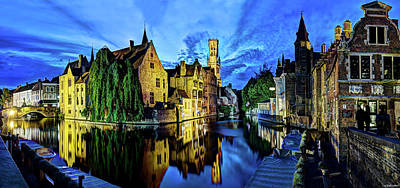 Photograph - The Belfort Of Bruges At Dusk by Weston Westmoreland