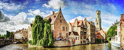 Photograph - The Belfort Of Bruges - Vintage Version by Weston Westmoreland