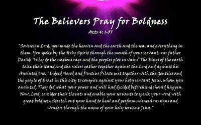 Jehova Digital Art - The Believers Pray For Boldness by Alexis Moreno Plariza