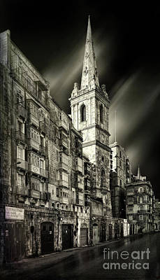 The Bell Tower Of A Church In Valletta Art Print by Stephan Grixti